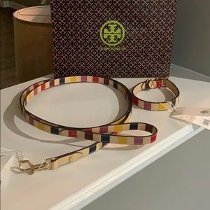NWT Authentic Tory Burch Dog Collar & Lease
